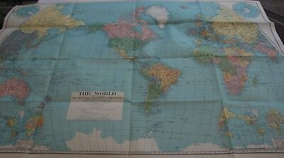 Superb Large  1932 World Map  The National Geographic Magazine