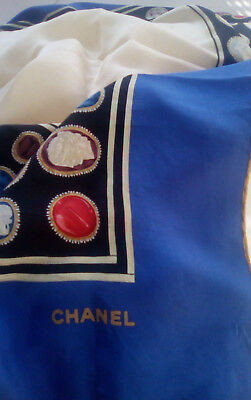 Chanel Authentic Vintage Large Silk scarf
