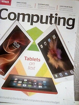 Which? Computing Magazine April 2018 *latest Issue ~ New & Unread Condition*