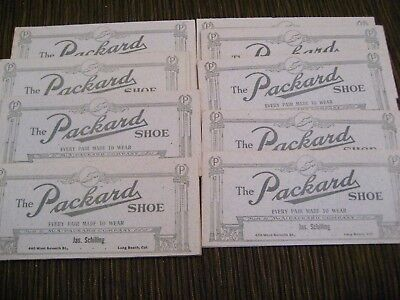 Vintage Packard Shoe Company Ink Blotter Lot NOS Long Beach California 25 PC