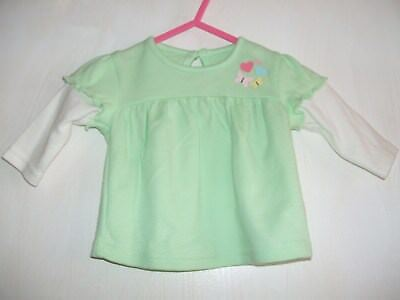 Baby mint green sleeved top tiny baby by George new