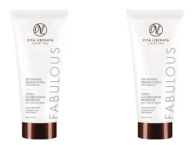2X Vita Liberata Luxury Fabulous Gradual Self Tan Lotion With Marula Oil 200ml