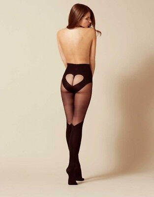 Agent Provocateur Heart Tights Black XS