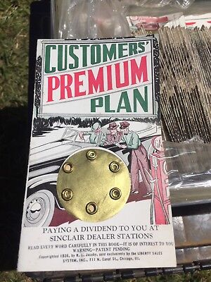 1936 Sinclair Customers' Premium Plan Appreciation Book Lot Of 50 Total Booklets