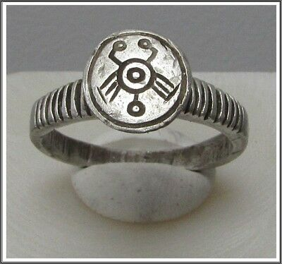 **IRON AGE**Ancient Silver  CELTIC Ring **LA TENE ** 500BC**SCORPIO**