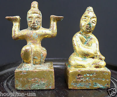 A Pair of 2,000 Year-Old Chinese Gilt-Bronze Seals.c. Eastern Han Dyn. 25-220 AD