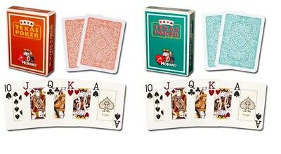 Brown Dark Green Modiano 100% Plastic Playing Cards Poker Size Jumbo Index New