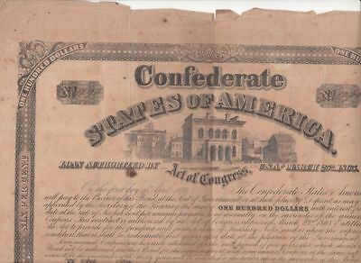 $100 CSA Bond (March 1865)...99 cents opening...NR!