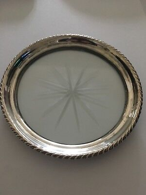 Vintage Webster Co Sterling Silver Glass Bottle Coaster
