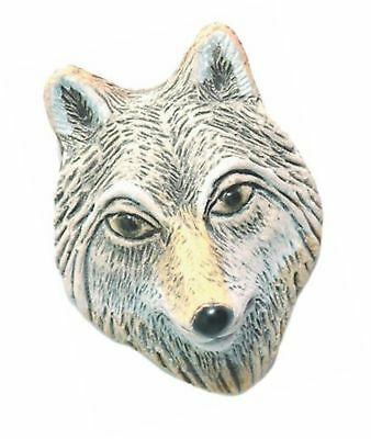 Shipwreck Beads 25 by 34mm Peruvian Hand Crafted Ceramic Wolf Face Beads, Gra...