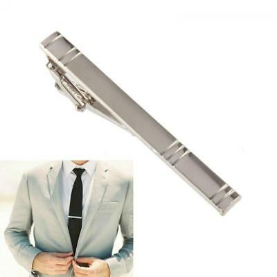 Mens Silver Tie Clip Pin Stainless Steel Fashion Clasp Bar Office Wedding gift