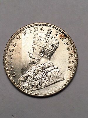 1919 India British One Rupee silver coin appears BU
