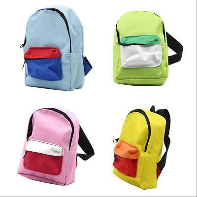 Lovely Doll Accessories Zipper Backpack for 18 Inch Dolls Baby Girls Pretend Toy