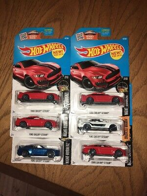 2016-17 Hot Wheels Ford Shelby GT350R Lot of 6 Brand New Free Shipping