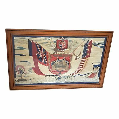 Antique British Sailor's Woolwork