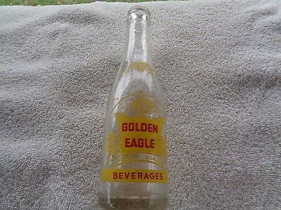 Vintage Golden Eagle Beverages Bottle Soda Pop Cola Orange Drink