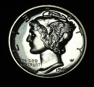 1941 PROOF Mercury Silver Dime - Absolutely Gorgeous Proof Coin!!!!!!