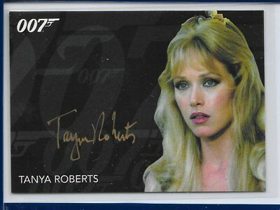 2017 James Bond Archives Final Edition Tanya Roberts Gold Series Autograph Card