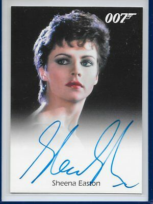 2016 OO7 James Bond Archives Spectre Edition Sheena Easton autographed card