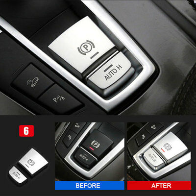 Car Electronic Handbrake AUTO H Button Trim For BMW 5 Series F10 F18 2011-2017