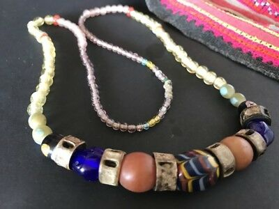 Old Borneo Dayak Tribal Beaded Necklace  …beautiful & unique accent / collection