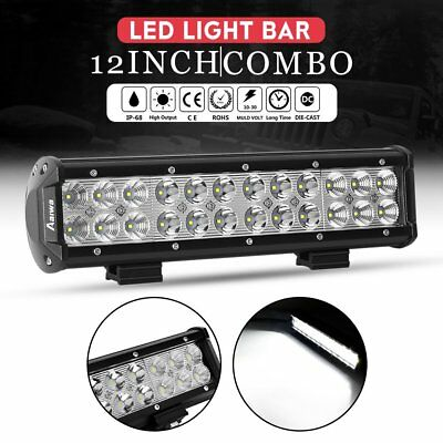 "12""inch 72W Cree Led Work Light Bar Flood Spot Suv Boat Driving Lamp Offroad 4WD"