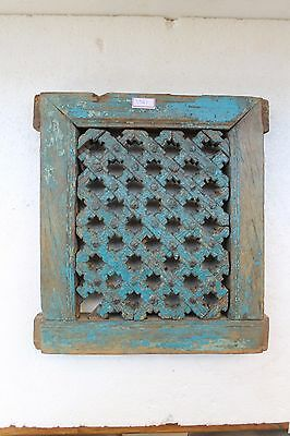 1850's Old Jharonkhe Style Wooden Window Frame Hand Carved Jali Nh3541