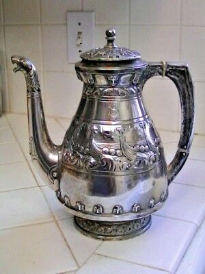 Rare Dated 1909 Christiansen & Svenson 830 Silver Teapot From Trondhjem Norway
