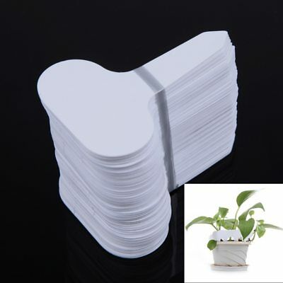 100Pcs Plastic T-Type Garden Tags Ornaments Plant Flower Label Nursery Thick Tag
