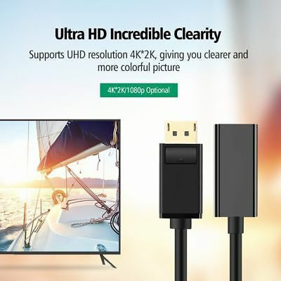 DP HDMI DP Display Port Male to HDMI Female Cable Converter Adapter PC HP/DELL