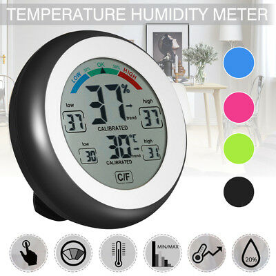 Thermometer Hygrometer LCD Digital Display Innen Temperatur Feuchtigkeitsmesser