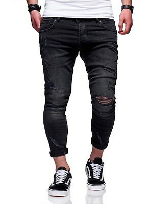 BEHYPE Men/'s Jeans Pants Regular fit Washed look and ripped knees JN-3562
