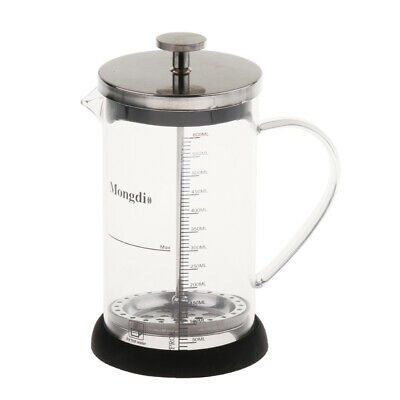 Blesiya 600ml French Press Coffee Maker Glass with Filter Tea Pot
