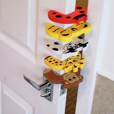 Lc_ 5Pcs/Set Cute Colorful Cartoon Door Stoppers Baby Child Finger Safety Guar