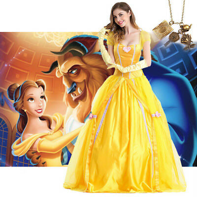 Adults Beauty and The Beast Belle Princess Costume Cosplay Fancy Dress Halloween