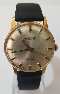 Montine Of Switzerland Mens' 17 Jewels Automatic Watch