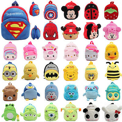 AU Baby Kids Cartoon Plush Bags Backpack Schoolbag Shoulder Rucksack Toddler Bag