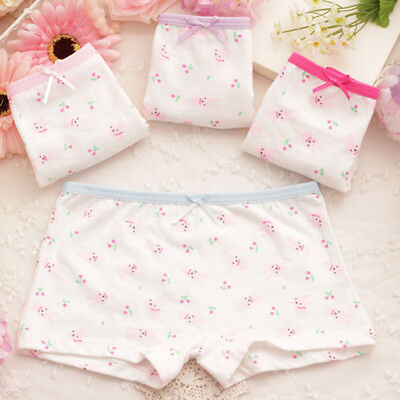 Kids Girls Cute Cartoon Rabbit Cotton Underwear Panties Boyshorts Boxers Nice