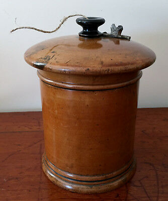 19th Century Boxwood String Box with Cutter