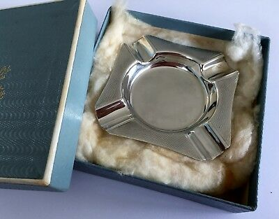 Vintage Hallmarked Silver Ashtray / Pin Dish, Birmingham 1968 (50th Birthday?)