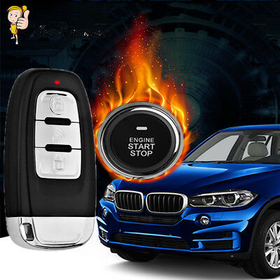 Car Alarm Start Security System Key Passive Keyless Entry Push Button Remote