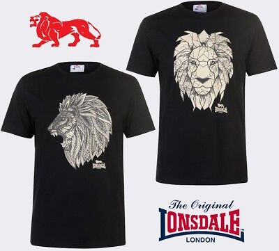 T-Shirt Lonsdale Man Round Neck Graphic Lion Collection 2018 S To Xxl