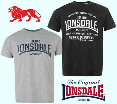 T-Shirt Lonsdale Sport Man Round Neck Collection 2018 S To Xxxxl