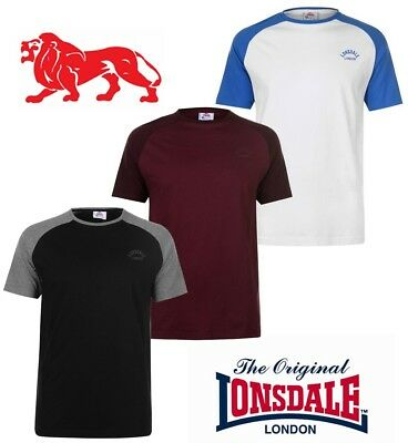 T-Shirt Lonsdale Man Round Neck Collection 2018 S To Xxxl