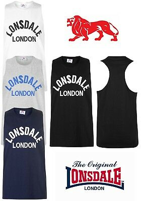 T-Shirt Tank Top Lonsdale Man Boxing Racerback Collection 2018 S To Xxxxl