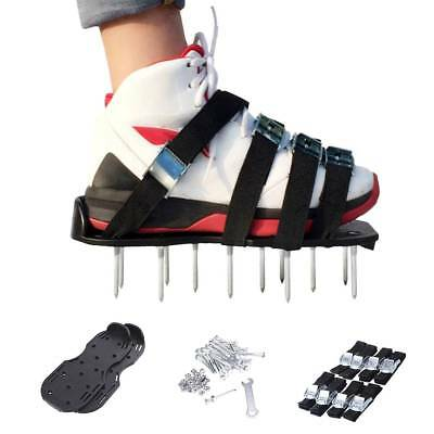 Gardeners Mate Lawn Aerator Sandals Strap Aerating Shoes Per Steel Spikes Garden