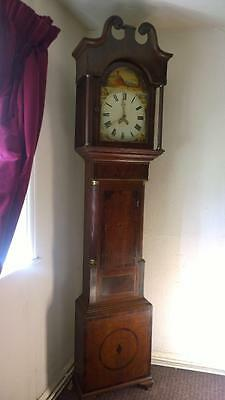 An Antique Late 18th Century Country Longcase Clock