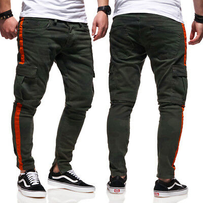 BEHYPE Men/'s Jeans Pants Destroyed with Ripped Knees and front zipper JN-3608