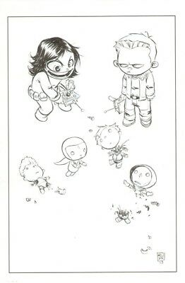 Skottie Young original comic Baby Variant cover art Avengers Ant-Man Vision Doom