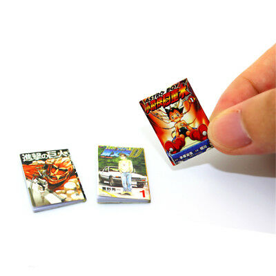 1pc Dollhouse Miniatures Exquisite Books Comic Books Scene Study Accessories